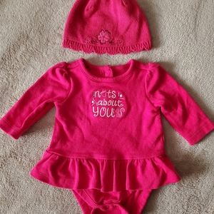 Nuts About You bodysuit dress and matching beanie